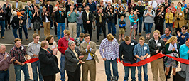Student Art Installation Ribbon Cutting small