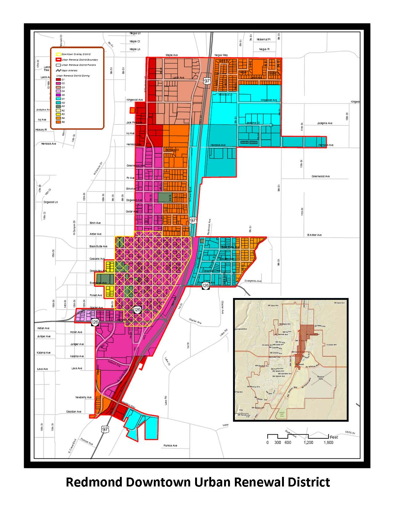Urban Renewal District Map Current
