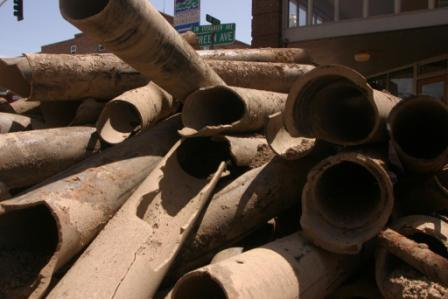 old replaced pipes