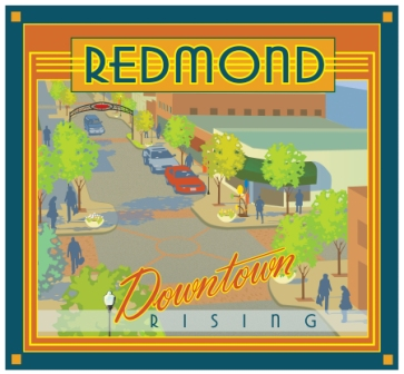 Redmond Downtown Rising Illustration