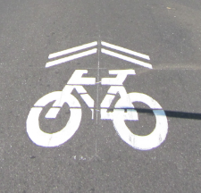 Bicycle Sharrow Symbol