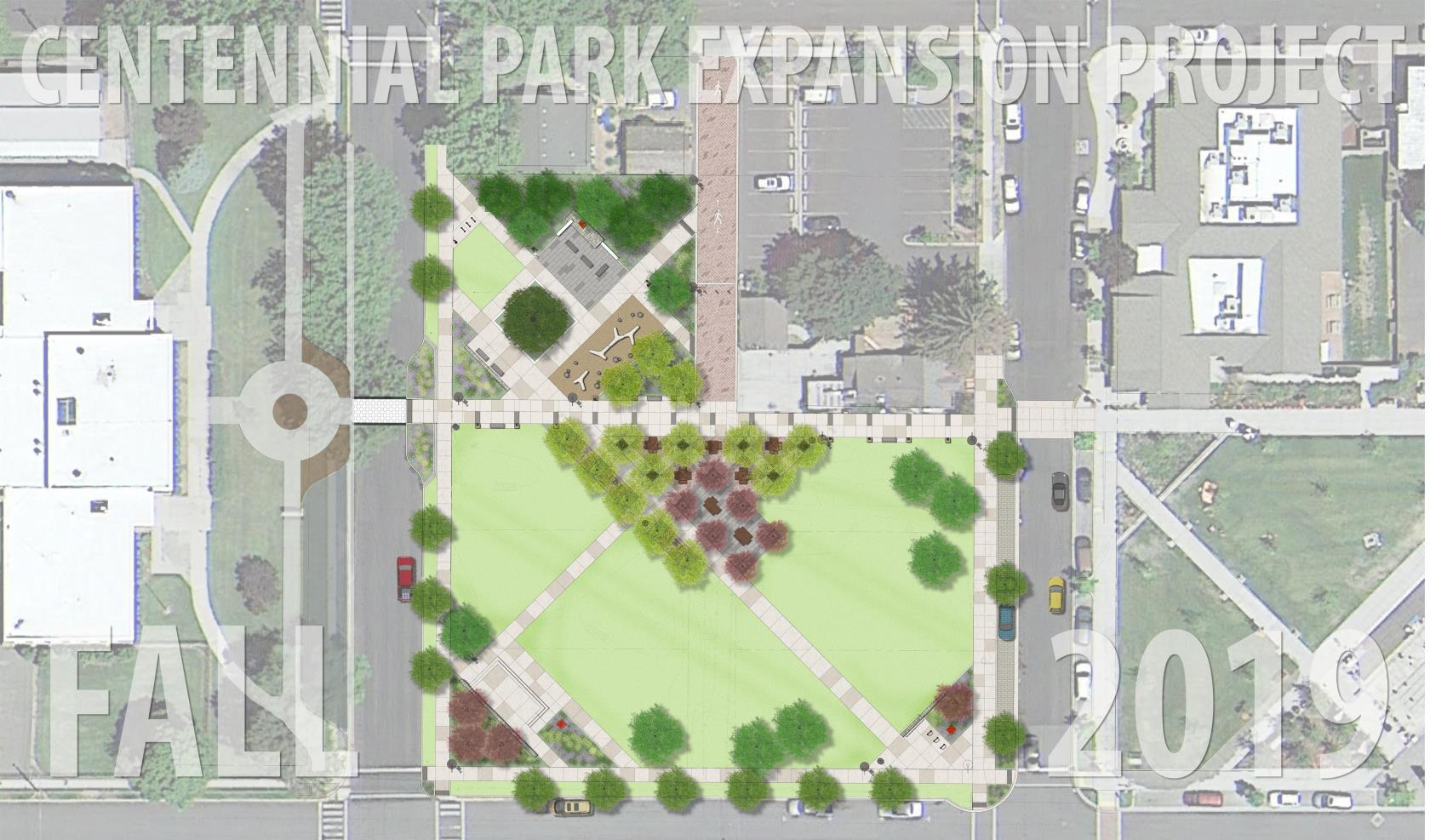 Centennial Park Expansion project rendering