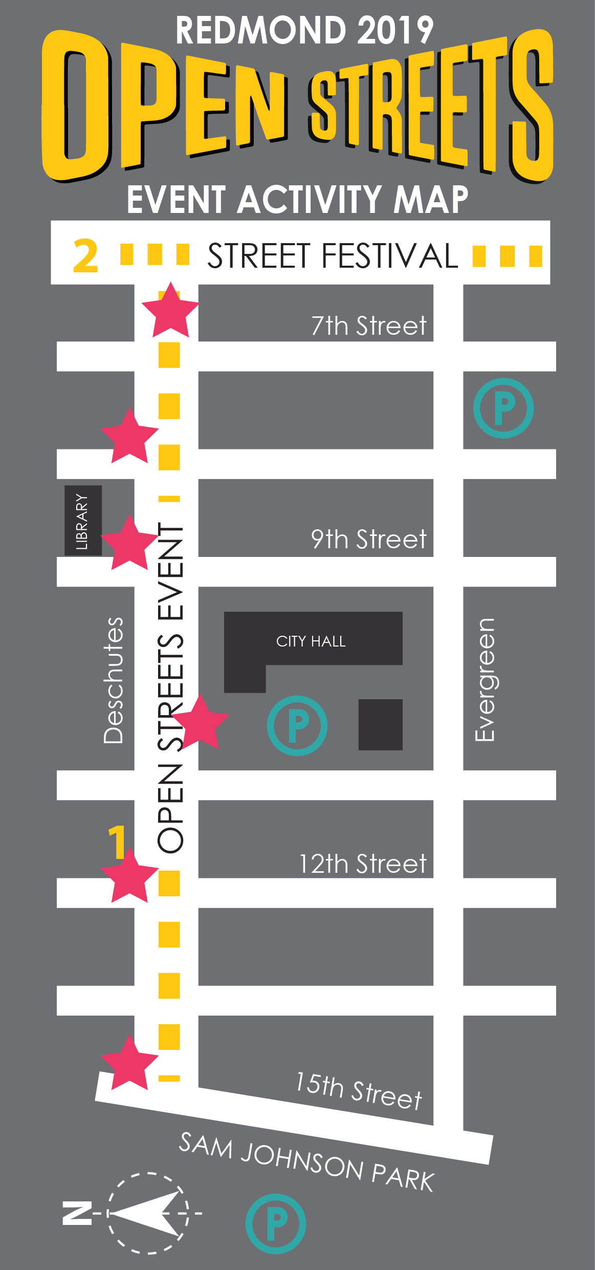 Open Streets Event Map 2019