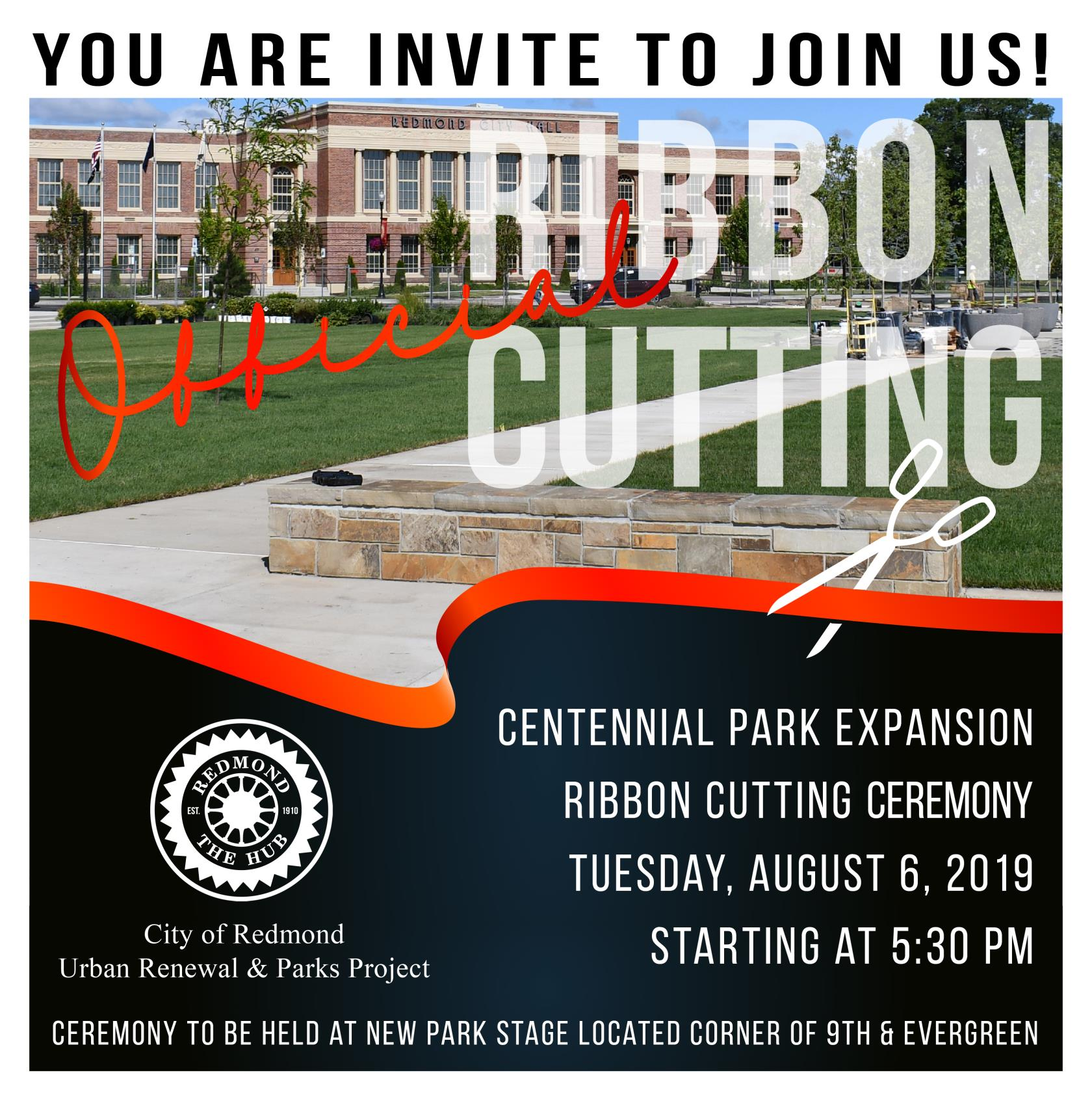 Centennial Park Expansion Ribbon Cutting Announcement 2019