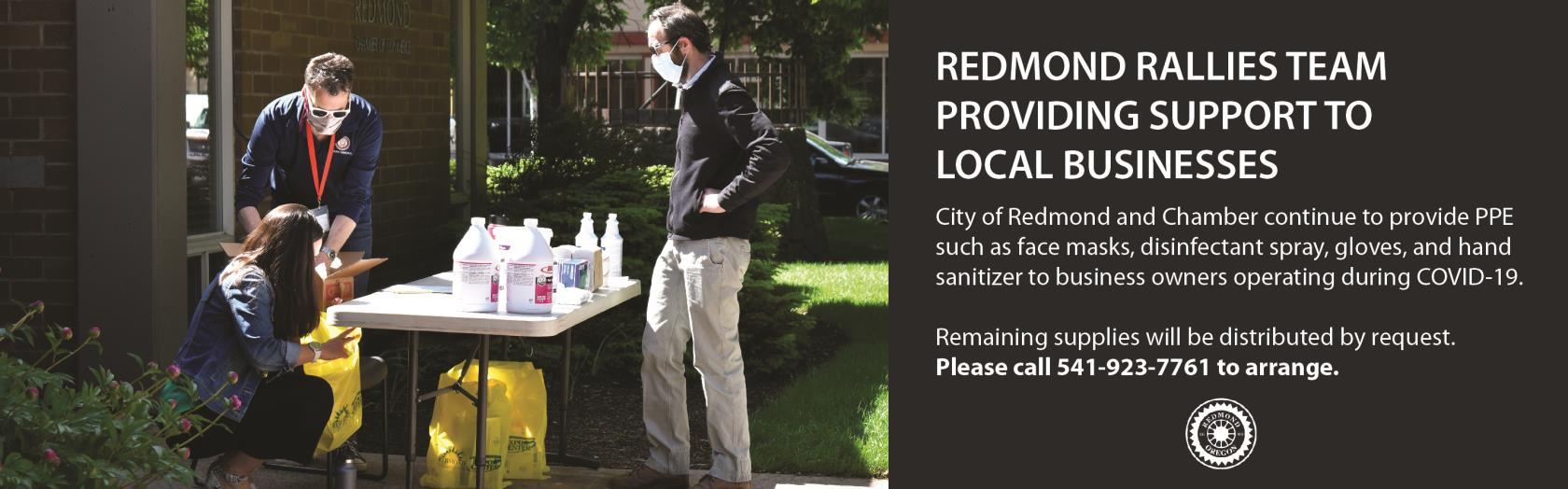 Redmond Rallies Team Providing support to local businesses
