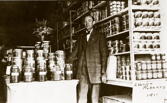 Store owner Lynch Roberts in 1911.