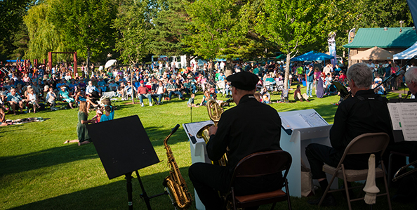 Musicians Performing Live in Sam Johnson Park